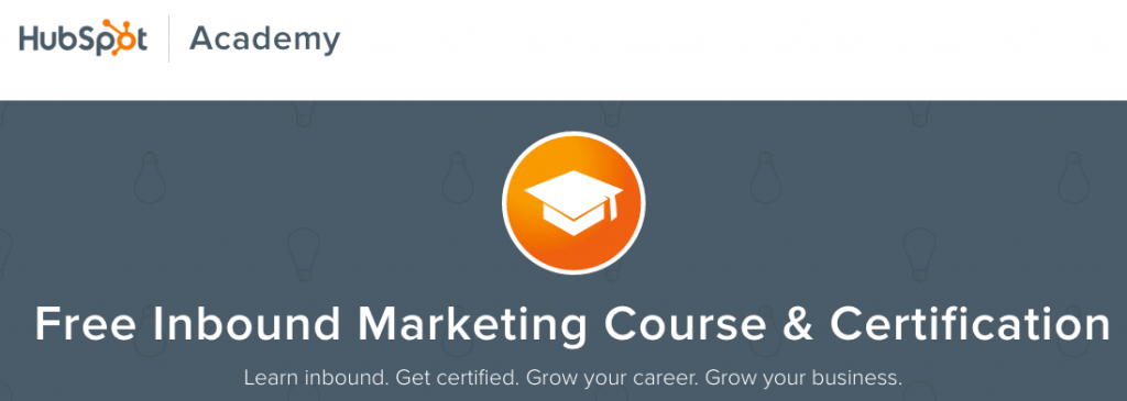 Inbound Marketing Certification from Hubspot Academy